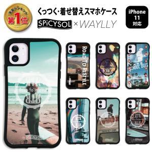 iPhone11 ケース スマホケース SPiCYSOL 耐衝撃 シンプル おしゃれ くっつく ウェイリー WAYLLY _MK_|waylly