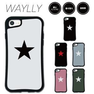 iPhone 8 7 XR XS X SE 6s 6 Plus XsMax 11 pro max ケース スマホケース スター 耐衝撃 シンプル おしゃれ くっつく ウェイリー WAYLLY _MK_|waylly