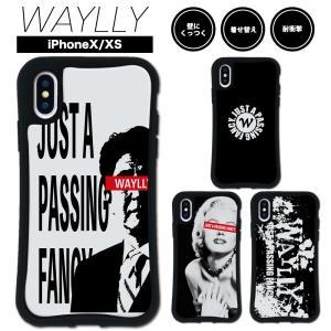 iPhone XS X ケース スマホケース ストリート 耐衝撃 シンプル おしゃれ くっつく ウェイリー WAYLLY _MK_|waylly