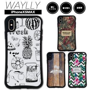 iPhone XS Max ケース スマホケース トロピカル 耐衝撃 シンプル おしゃれ くっつく ウェイリー WAYLLY _MK_|waylly