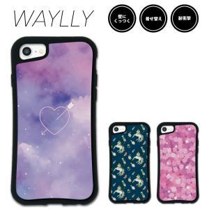iPhone 8 7 XR XS X 6s 6 Plus XsMax ケース スマホケース ゆめかわ 耐衝撃 シンプル おしゃれ くっつく ウェイリー WAYLLY _MK_|waylly