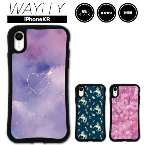 iPhone XR ケース スマホケース ゆめかわ 耐衝撃 シンプル おしゃれ くっつく ウェイリー WAYLLY _MK_|waylly