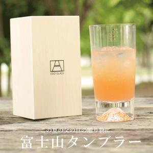 田島硝子 富士山グラス タンブラー 父の日ギフト 敬老の日ギフト TG15-015-T 送料無料 クリスマス|wayukan