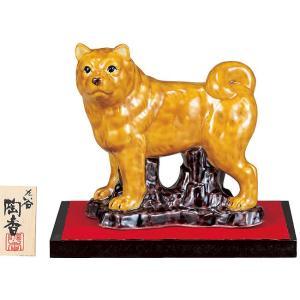 2018年 干支飾り 戌(いぬ) 青九谷 九谷焼 陶器 犬 置物|waza