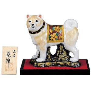 2018年 干支飾り 岩上戌(いぬ) 赤錦 九谷焼 陶器 犬 置物|waza