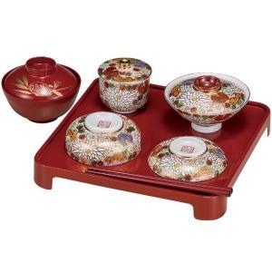 九谷焼 お食べ初め 和食器セット 花詰(男女兼用)|waza