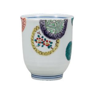 還暦祝い 喜寿祝い ギフト 九谷焼 湯のみ 色絵丸紋|waza