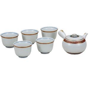 来客用 九谷焼 蓋付 茶器セット 白七宝 waza