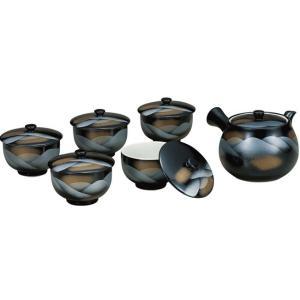来客用 九谷焼 蓋付 茶器セット 連山 waza