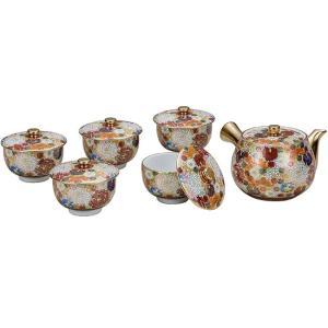 来客用 九谷焼 蓋付 茶器セット 花詰|waza