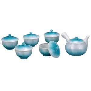 来客用 九谷焼 蓋付 茶器セット 銀彩 waza