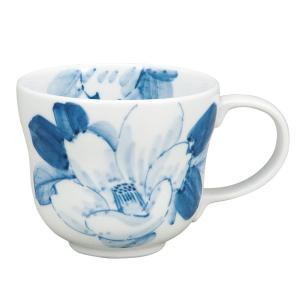 マグカップ 男性/女性 誕生日プレゼント 九谷焼 染付山茶花|waza