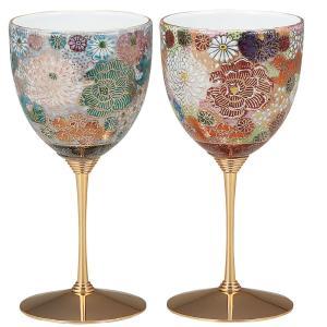 結婚祝いプレゼント 陶器 ペア ワイングラス 花詰|waza
