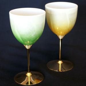 結婚祝いプレゼント 陶器 ペア ワイングラス 銀彩|waza