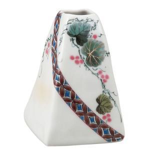 陶器 一輪挿し 九谷焼  小紋ぶどう|waza