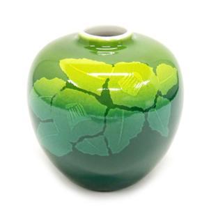 陶器 一輪挿し 九谷焼  銀山茶花|waza