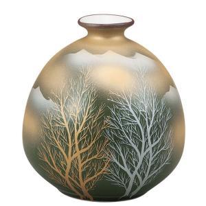 陶器 一輪挿し 九谷焼  金雲木立|waza