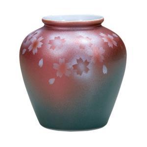 陶器 一輪挿し 九谷焼  桜|waza