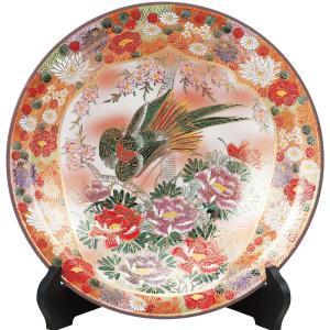 九谷焼 10号 飾皿 割取花詰 waza
