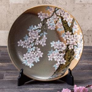九谷焼 10号 飾皿 桜花 waza