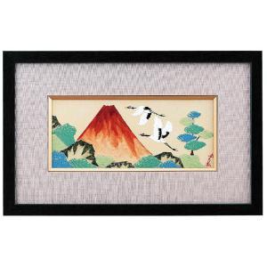 新築祝い プレゼント 九谷焼 陶額 赤富士に鶴 waza