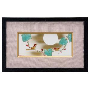 九谷焼 陶額 月に鳥|waza