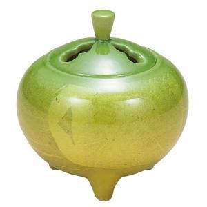 九谷焼 陶器 香炉 銀彩 waza