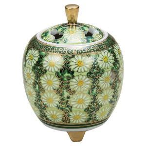 九谷焼 陶器 香炉 菊詰 waza