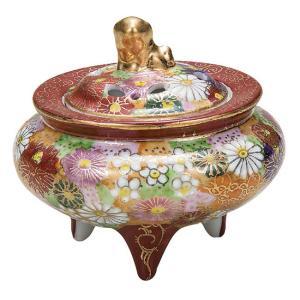 九谷焼 陶器 香炉 花詰 waza