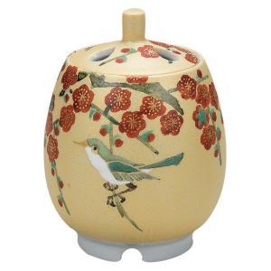 九谷焼 陶器 香炉 梅にうぐいす waza
