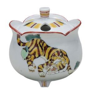 九谷焼 陶器 香炉 虎 waza