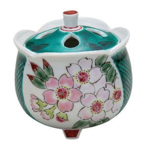 九谷焼 陶器 香炉 さくら waza