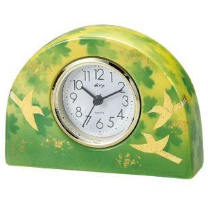 九谷焼 陶器 置時計 釉彩花鳥|waza