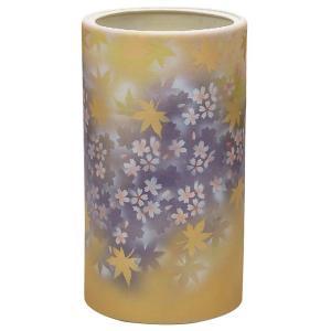 九谷焼 陶器 傘立て 春秋文|waza