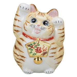 開運!九谷焼 両手上げ 絵馬招き猫 茶トラ|waza