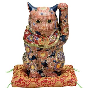 商売繁盛!九谷焼 左手 招き猫 盛|waza
