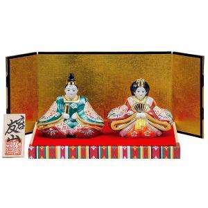 初節句 お祝い 九谷焼 陶器 雛人形 盛|waza