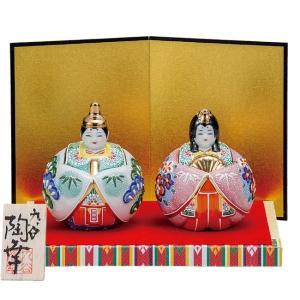 初節句 お祝い 九谷焼 陶器 雛人形 絞り盛松竹梅|waza