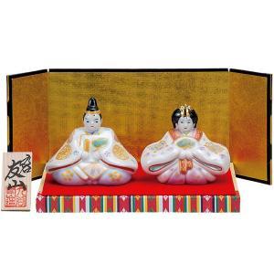 初節句 お祝い 九谷焼 陶器 雛人形 金銀釉彩|waza