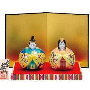 初節句 お祝い 九谷焼 陶器 雛人形 梅紋|waza