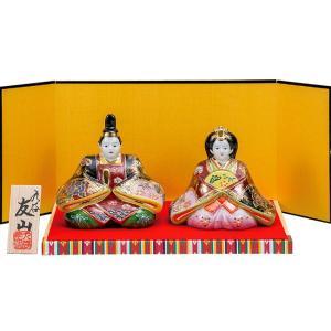 初節句 お祝い 九谷焼 陶器 雛人形 金彩錦盛|waza