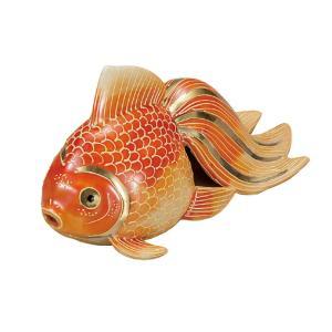 風水 置物 九谷焼 5号 金魚 紅盛|waza