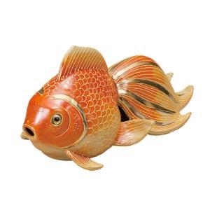 風水 置物 九谷焼 7号 金魚 紅盛|waza