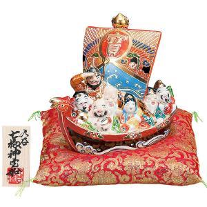 風水 置物 九谷焼 6号 七福神宝船 盛|waza