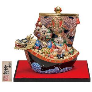 風水 置物 九谷焼 8.5号 恵比寿大黒宝船 盛 waza