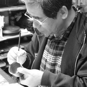 九谷焼 夫婦茶碗 湯のみ ペアセット 赤富士 金婚式/還暦祝い/名入れ/ギフト|waza|06