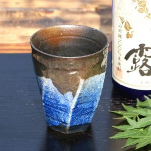九谷焼 荒削り 焼酎グラス 銀彩 高級 陶器 おしゃれ プレゼント 男性|waza