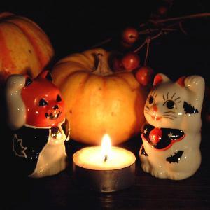 置いて魔を除け 笑顔で招福!ハロウィン招き猫|waza