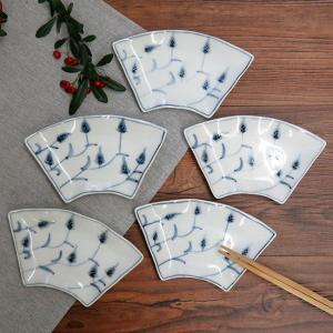 おしゃれ 陶器 和食器 九谷焼 小皿5枚セット 麦|waza