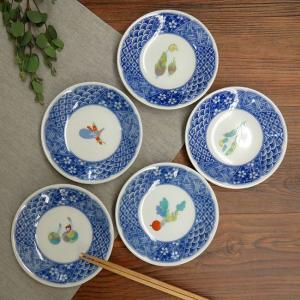 おしゃれ 陶器 和食器 九谷焼 小皿5枚セット 野菜文|waza
